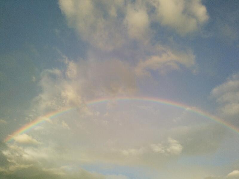 虹が出てからの雨